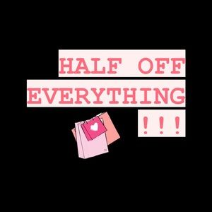 50% off everything in my closet!!